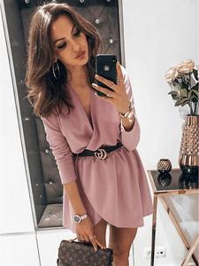 Różowa sukienka magmac.pl kopertowa mini