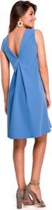 Sukienka Style bez rękawów z tkaniny