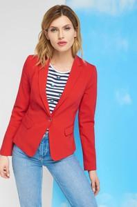 Czerwona marynarka ORSAY na guziki w stylu casual z tkaniny