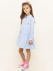 Niebieska sukienka dziewczęca Tommy Hilfiger w paseczki