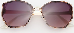 Brązowe okulary damskie Reserved