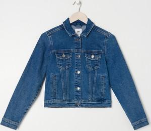Niebieska kurtka Sinsay krótka z jeansu