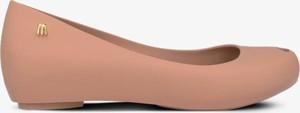 Baleriny Melissa z płaską podeszwą ze skóry w stylu casual