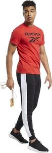 Czerwony t-shirt Reebok z krótkim rękawem w sportowym stylu