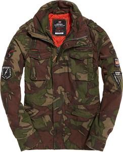 Kurtka Superdry w militarnym stylu krótka z bawełny