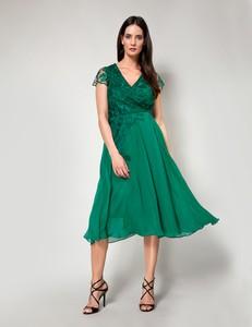 Zielona sukienka Molton z dekoltem w kształcie litery v