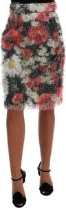 Czarna spódnica Dolce & Gabbana z jedwabiu