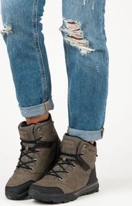 Niebieskie buty trekkingowe Czasnabuty z płaską podeszwą