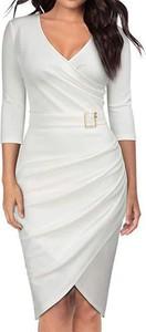 Sukienka Arilook ołówkowa z długim rękawem mini