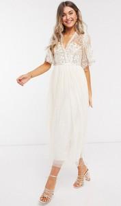 Sukienka Needle & Thread z żakardu midi