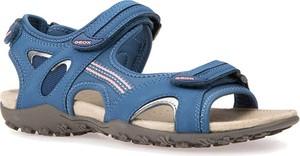 Niebieskie sandały Geox z klamrami