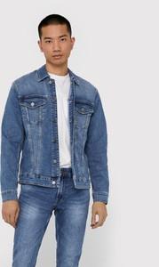 Niebieska kurtka Only & Sons krótka z jeansu