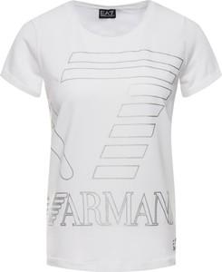 T-shirt EA7 Emporio Armani w stylu casual z okrągłym dekoltem