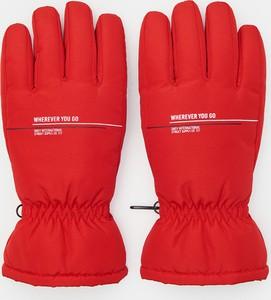 Czerwone rękawiczki Sinsay