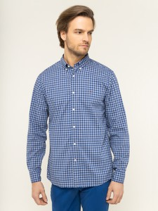 Niebieska koszula Tommy Hilfiger z kołnierzykiem button down