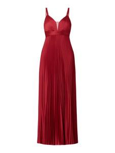 Sukienka Jake*s Cocktail z satyny z dekoltem w kształcie litery v