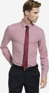 Różowa koszula Wólczanka z tkaniny