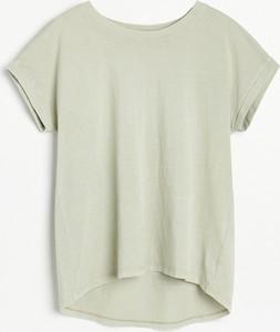 T-shirt Reserved w stylu casual z okrągłym dekoltem z bawełny