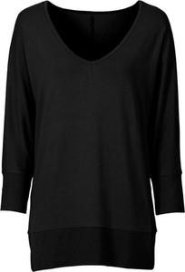 Czarna bluzka bonprix RAINBOW w stylu casual