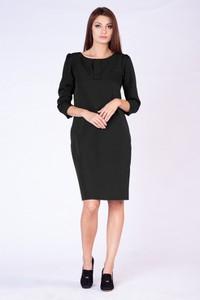 Czarna sukienka butik-choice.pl z okrągłym dekoltem