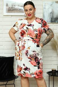 Sukienka KARKO z długim rękawem mini z dekoltem w kształcie litery v