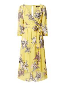 Żółta sukienka S.Oliver Black Label z długim rękawem