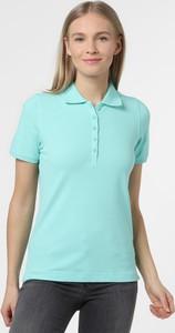 Zielony t-shirt Franco Callegari w stylu casual z krótkim rękawem