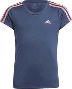 Granatowa koszulka dziecięca Adidas dla chłopców