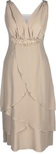 Sukienka Fokus w stylu glamour midi