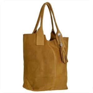 32d013dc724d0 Brązowa torebka Borse in Pelle z zamszu w stylu casual