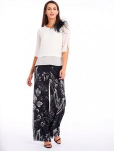 Czarne spodnie POTIS & VERSO z szyfonu w stylu boho