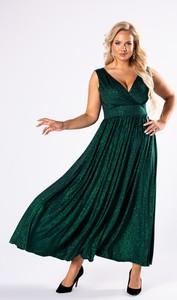 Sukienka Ptakmoda.com bez rękawów z dekoltem w kształcie litery v