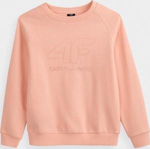 Różowa bluza dziecięca 4F z dzianiny