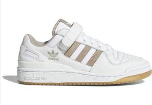 Buty sportowe Adidas ze skóry z płaską podeszwą