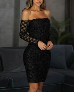 Sukienka Kendallme z odkrytymi ramionami hiszpanka z długim rękawem