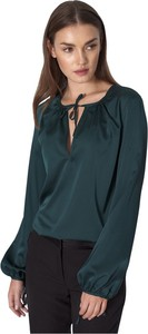 Zielona bluzka Nife z długim rękawem