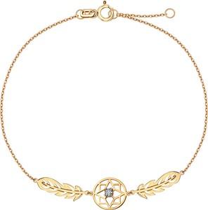YES Złota bransoletka z diamentem