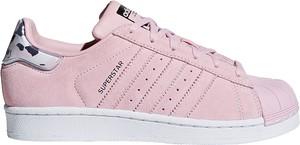 Różowe trampki Adidas w sportowym stylu z płaską podeszwą