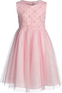 Różowa sukienka dziewczęca happy girls w kwiatki