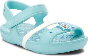 Miętowe buty dziecięce letnie crocs