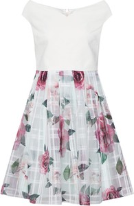 Miętowa sukienka Ted Baker mini bez rękawów