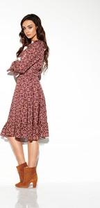 Sukienka Merg z długim rękawem midi
