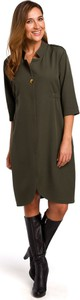 Sukienka Style z długim rękawem mini z kołnierzykiem