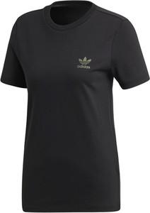 Bluzka Adidas w sportowym stylu z okrągłym dekoltem z krótkim rękawem