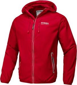 Czerwona kurtka Pit Bull krótka w młodzieżowym stylu
