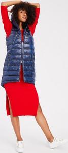 Niebieska kurtka Diverse z tkaniny