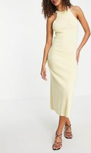 Zielona sukienka Asos bez rękawów midi