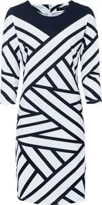 Sukienka bonprix mini z długim rękawem z dżerseju