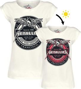 T-shirt Metallica z okrągłym dekoltem w młodzieżowym stylu