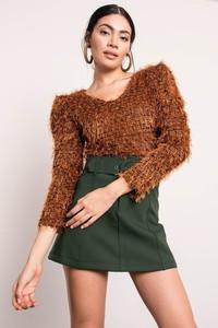 Brązowy sweter Sheandher.pl